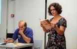 """A prof. Amélia Pinheiro lê o poema """"O dia em que nasci"""" - o mesmo do autor, uns anos depois."""